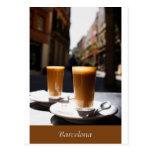 Descanso para tomar café de Barcelona Tarjeta Postal
