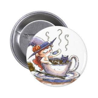 Descanso para tomar café de la bruja 2 pins