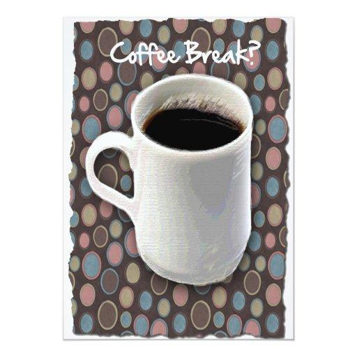 Descanso para tomar café de la taza de café y de invitación 12,7 x 17,8 cm