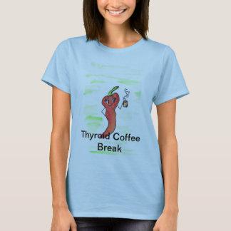 Descanso para tomar café de la tiroides playera
