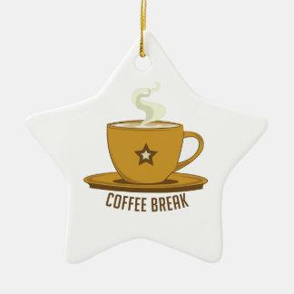 Descanso para tomar café adorno de navidad