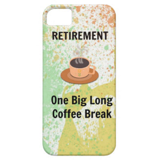 Descanso para tomar café del retiro en fondo de la iPhone 5 protector