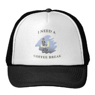 descanso para tomar café gorra