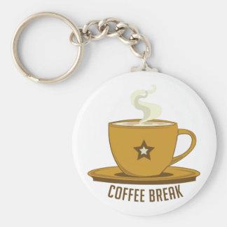 Descanso para tomar café llaveros