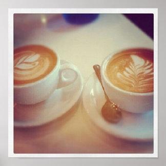 Descanso para tomar café impresiones
