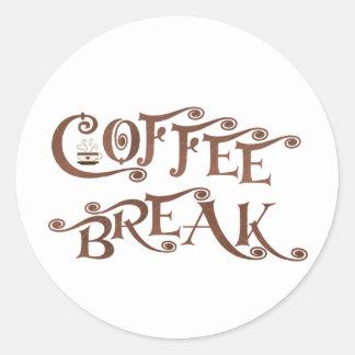 Descanso para tomar café pegatina redonda