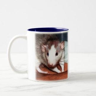Descanso para tomar café Ratties 02 Taza Dos Tonos