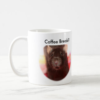 Descanso para tomar café Ratties Taza Básica Blanca