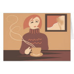 Descanso para tomar café tarjetas