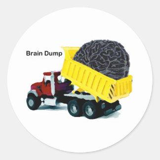 Descarga de cerebro pegatina redonda