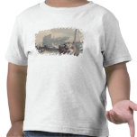 Descarga de los barcos de pesca camiseta
