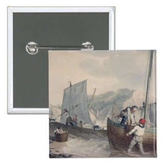 Descarga de los barcos de pesca pin