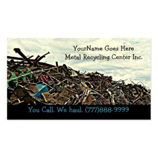 Descarga del reciclador de la chatarra o centro tarjetas de visita