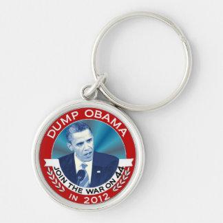 Descarga Obama en 2012 Llavero Redondo Plateado