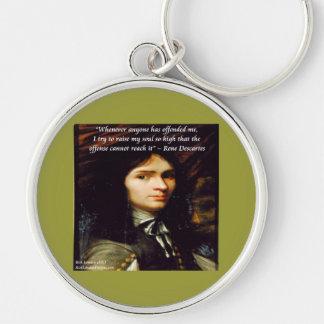 Descartes aumento cita famosa de mi alma llaveros