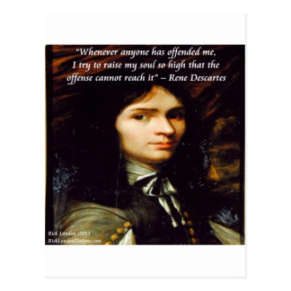 "Descartes ""aumento cita famosa de mi alma"" tarjetas postales"