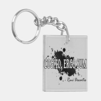 Descartes Double-Sided Square Acrylic Keychain