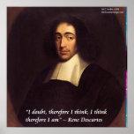 """Descartes """"que pienso que por lo tanto soy"""" poster"""