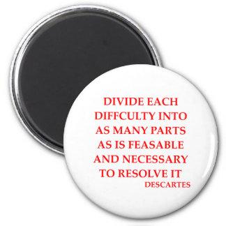 DESCARTES quote 2 Inch Round Magnet