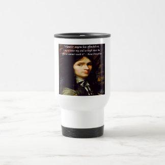 """Descartes """"Raise My Soul"""" Famous Quote Travel Mug"""