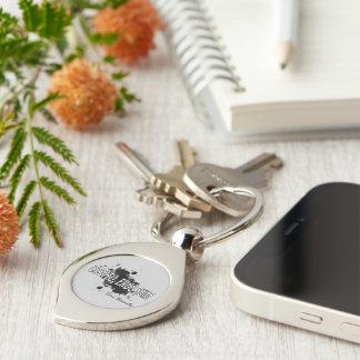 Descartes Silver-Colored Swirl Metal Keychain
