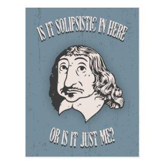 Descartes Solipsistic Postcard