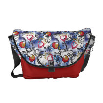 Descendants | Evie | Apple Pattern Courier Bag
