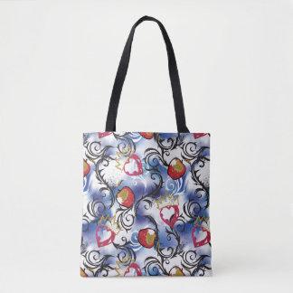 Descendants | Evie | Apple Pattern Tote Bag