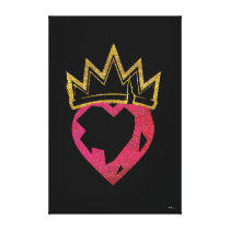 Descendants | Evie | Heart and Crown Logo Canvas Print