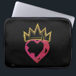 "Descendants | Evie | Heart and Crown Logo Laptop Sleeve<br><div class=""desc"">Check out this wickedly cool stencil design from Disney. Inspired by the Descendants movies, this is a shout out to all fans of these hit kids films. Featuring a heart and crown, this design is all about Evie. Her heart is in the right place now she&#39;s off the Isle of...</div>"