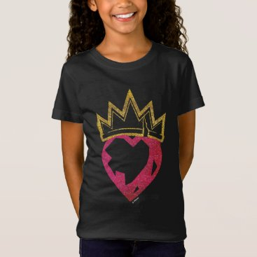 Valentines Themed Descendants | Evie | Heart and Crown Logo T-Shirt