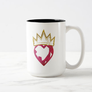 Descendants | Evie | Heart and Crown Logo Two-Tone Coffee Mug