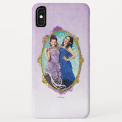 Case-Mate Barely There Apple iPhone XS Max Case with Descendants Mal and Evie Together design