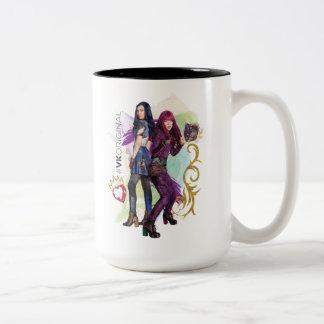 Descendants | Mal & Evie | #VK Original Two-Tone Coffee Mug