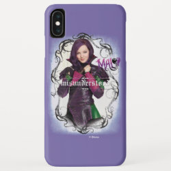 Case-Mate Barely There Apple iPhone XS Max Case with Descendants Mal: Misunderstood design