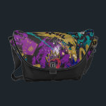 "Descendants | Rebel Attitude Pattern Courier Bag<br><div class=""desc"">You&#39;re a rebel without a cause. You&#39;re that punk fresh favorite. You&#39;re less hearts, more skulls and that&#39;s okay! This is a wicked cool design for the edgiest kids on the block. Sweeping colorful patterns inspired by the hit Disney film Descendants 2. The Battle between Mal and Uma starts here....</div>"