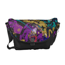 Descendants | Rebel Attitude Pattern Courier Bag