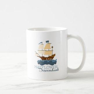 Descendiente de Mayflower Tazas De Café