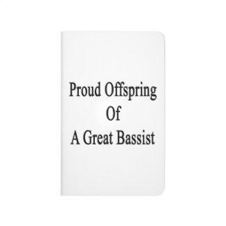 Descendiente orgulloso de un gran bajista cuaderno grapado