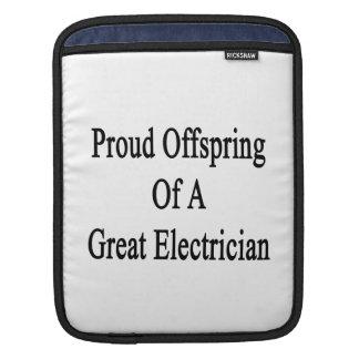 Descendiente orgulloso de un gran electricista funda para iPads