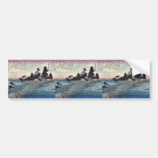 Descending geese at Haneda by Ando, Hiroshige Car Bumper Sticker
