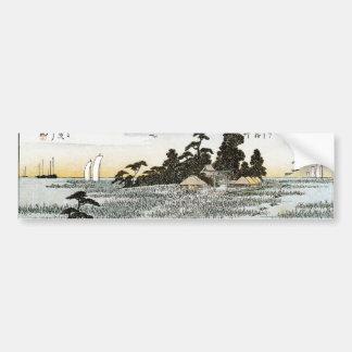 Descending Geese at Haneda, c. 1837-38. JAPAN. Car Bumper Sticker