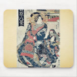 Descending geese at Omon Gate by Utagawa,Toyokuni Mouse Pad