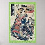Descending geese at Omon Gate by Utagawa,Toyokuni Print
