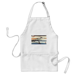 Descending Geese, Katata by Ando Hiroshige Adult Apron