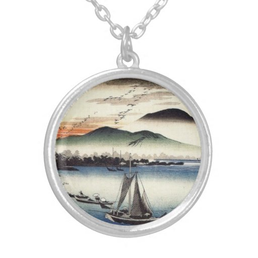 Descending Geese, Katata by Ando Hiroshige Jewelry