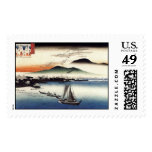 Descending Geese, Katata by Ando Hiroshige Stamp