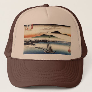 Descending Geese, Katata by Ando Hiroshige Trucker Hat