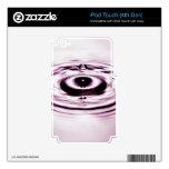 Descenso 4 del agua iPod touch 4G calcomanía