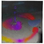 Descenso abstracto del agua servilletas imprimidas